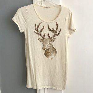 J.Crew short sleeve reindeer t-shirt